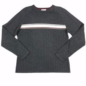 BKE 67 Knit Midweight LS Pullover Crewneck Sweater